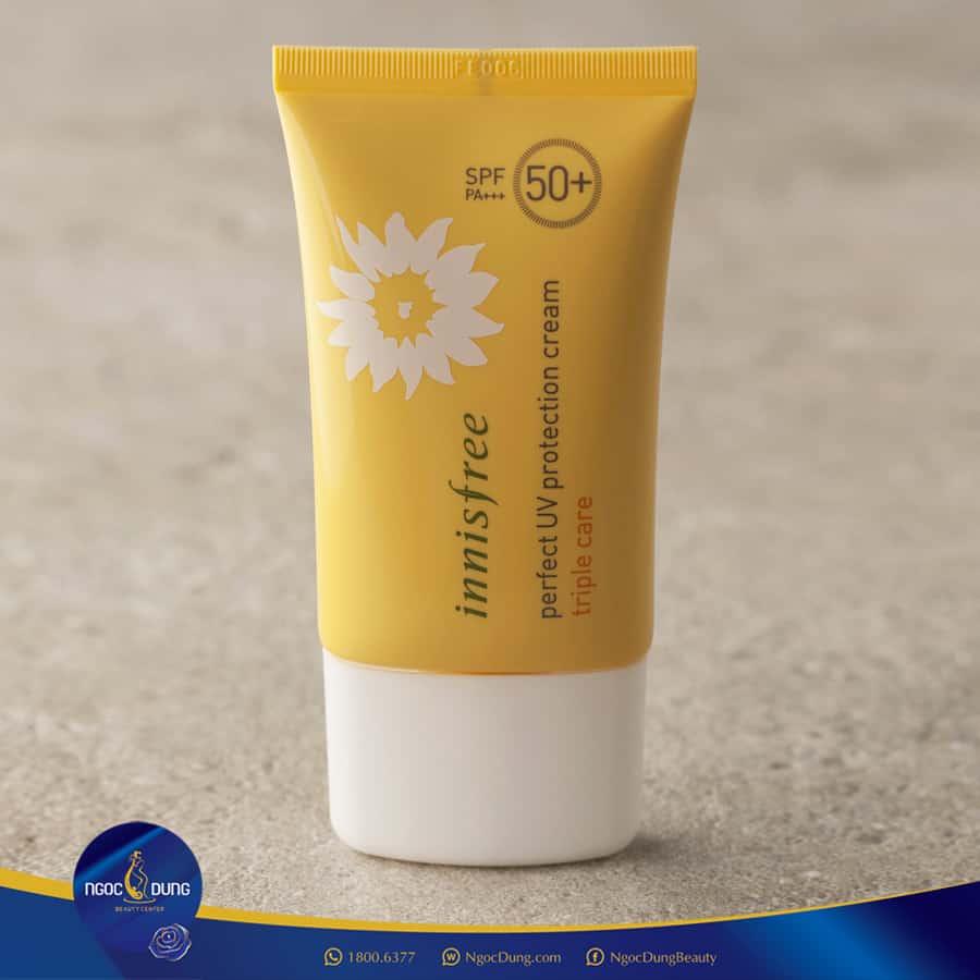 Innisfree Triple Care SPF 50 - Top 35 Loại kem chống nắng tốt nhất 2020