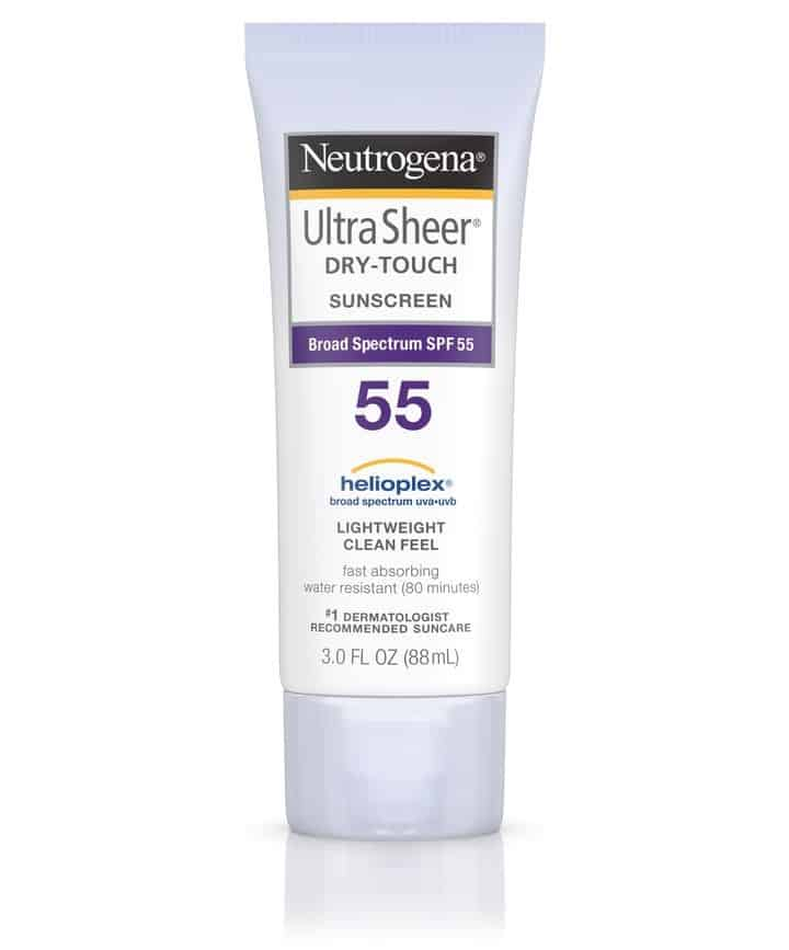 Neutrogena Ultra Sheer Dry Touch SPF 55 - Top 35 Loại kem chống nắng tốt nhất 2020