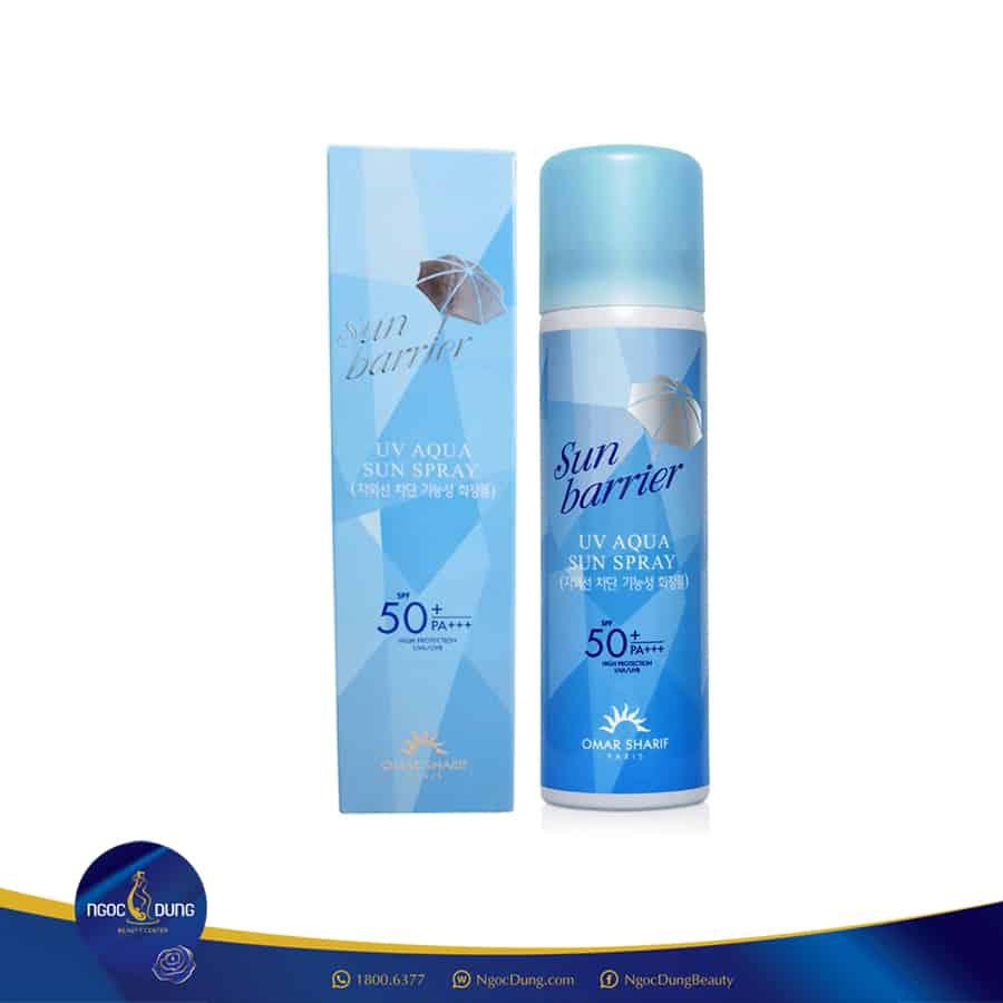 OMAR SHARIF SUN BARRIER UV AQUA SPRAY SPF50 - Top 35 Loại kem chống nắng tốt nhất 2020