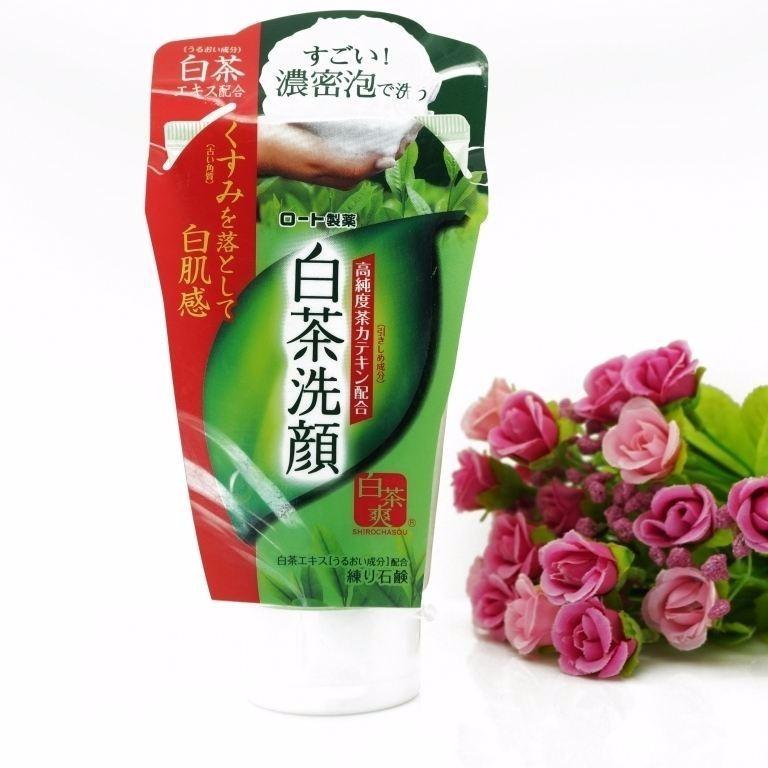 SE1BBAFa rE1BBADa mE1BAB7t trC3A0 xanh matcha ROHTO Shirochasou - Top 10 loại sữa rửa mặt nhật tốt nhất 2020