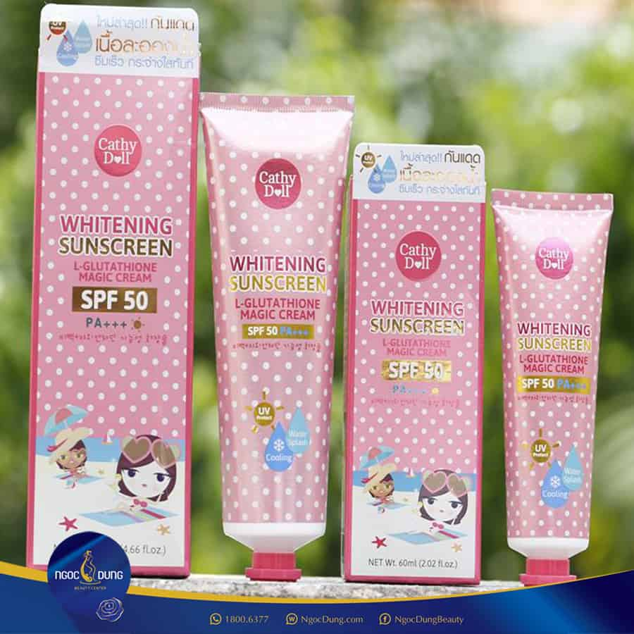 SPF50 Cathy Doll 138ml - Top 35 Loại kem chống nắng tốt nhất 2020