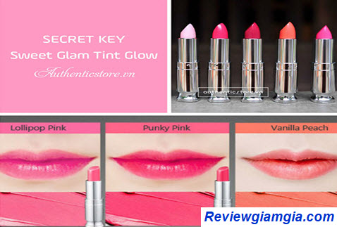 Son Secret Key Sweet Glam Tint Glow - Top 15 loại son môi hàn quốc tốt nhất 2020