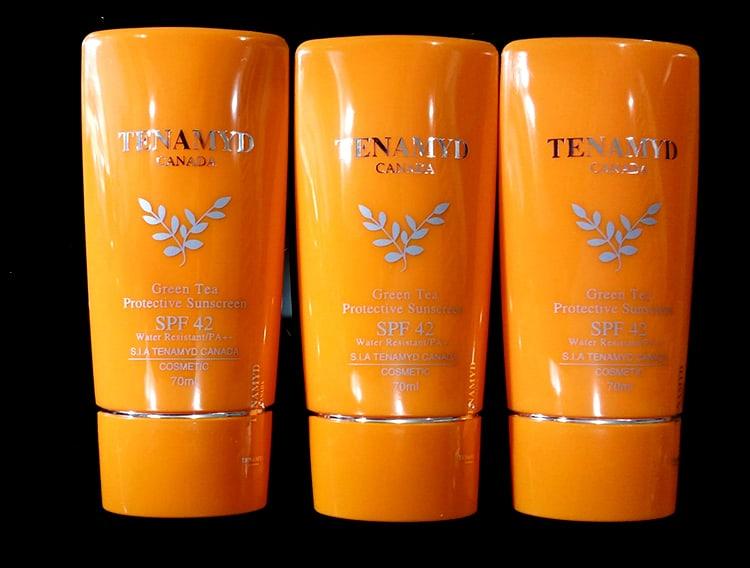 TENAMYD GREEN TEA PROTECTIVE SUNSCREEN SPF - Top 35 Loại kem chống nắng tốt nhất 2020
