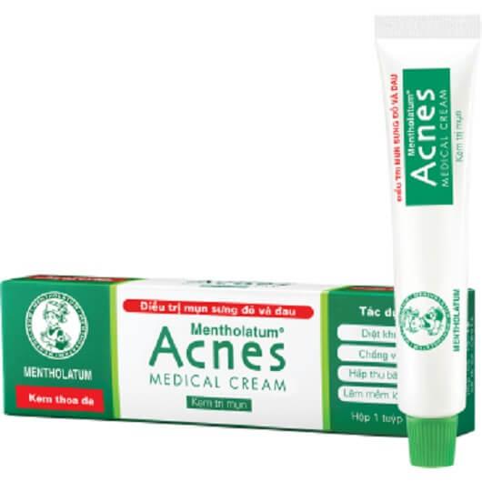 Kem tri mun Acnes medical cream - Các bước dưỡng da cho da dầu mụn cùng những sản phẩm thần thánh