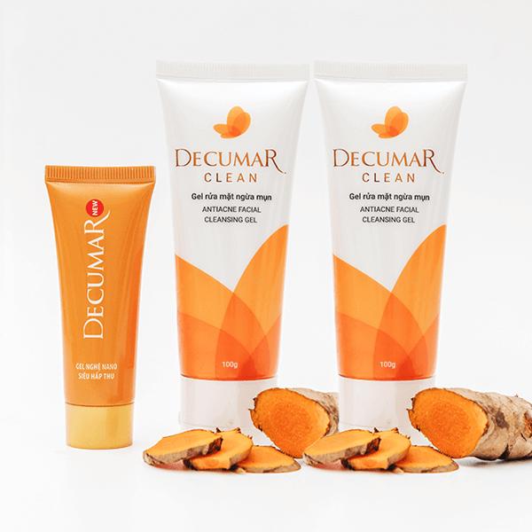 Kem tri mun Decumar - Các bước dưỡng da cho da dầu mụn cùng những sản phẩm thần thánh