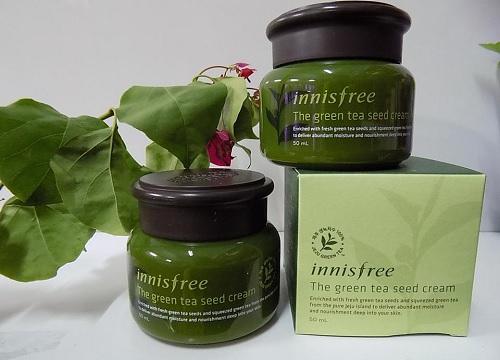 kem duong am Innisfree Green Tea Seed Cream - Những loại kem dưỡng ẩm da tốt nhất phù hợp theo từng loại da